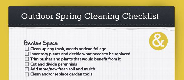 Free Spring Cleaning Checklist  Willard And May Outdoor Living Blog
