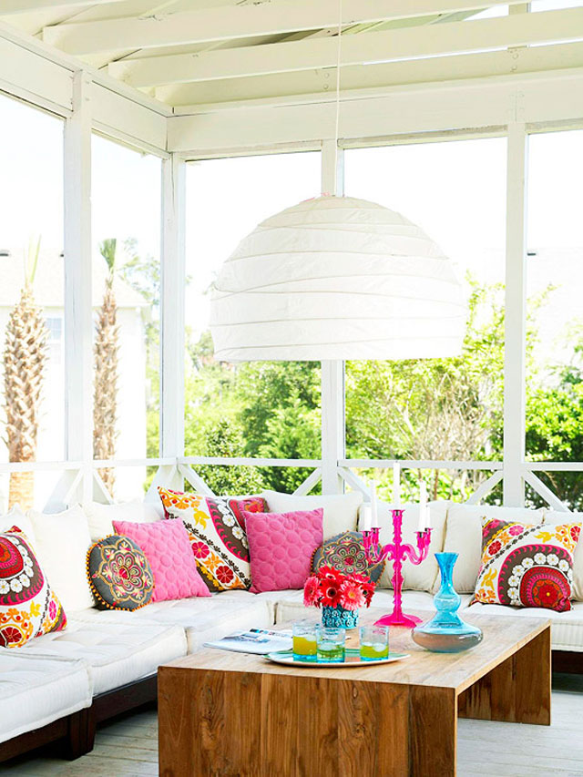Bright Colors Outdoor Decor