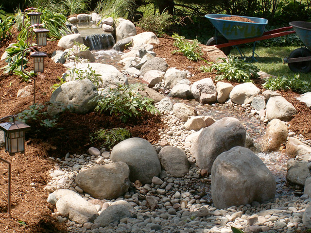 Weekend diy backyard water feature willard and may for Waterfall garden feature