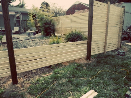 how to build a modern fence