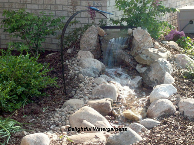 diy backyard waterfall