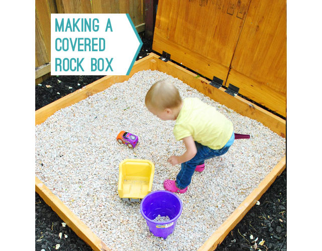 diy rock sand box
