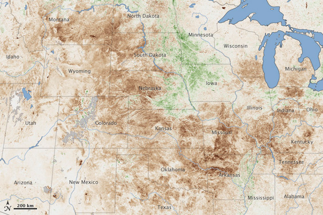 2012 drought map