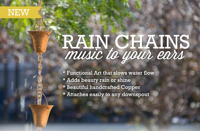 rain chain function and purposeful art