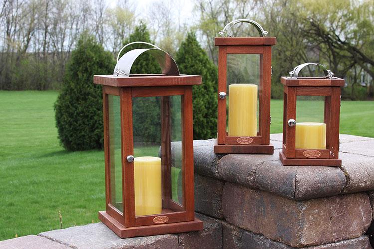 Outdoor decor willard and may outdoor living blog for Wooden garden lanterns